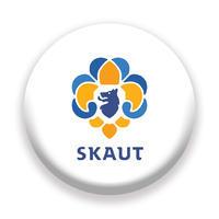 Placka 44 Logo bílá