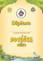 Diplom - Nováček Vlčat