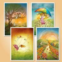 Táborové pohlednice - Sada pro holky