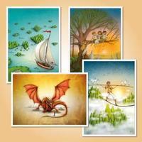 Táborové pohlednice - Sada pro kluky