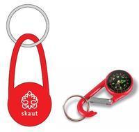 Kompas na klíče červený