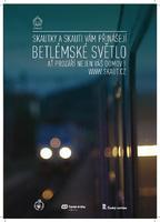 Plakát Betlémské světlo A3 vlak