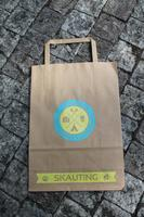 Papírová taška skaut A5, motiv modrožlutý