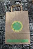 Papírová taška skaut A4, motiv žlutozelený