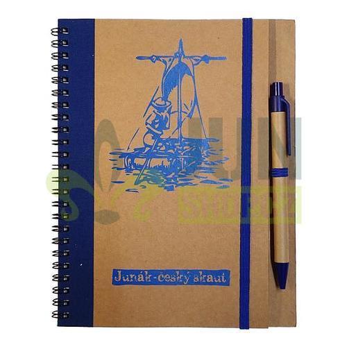Zápisník s perem modrý - vor - 1