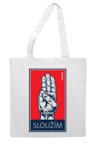 Bavlněná taška - Sloužím - 1