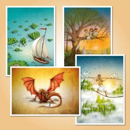 Táborové pohlednice - Sada pro kluky - 1