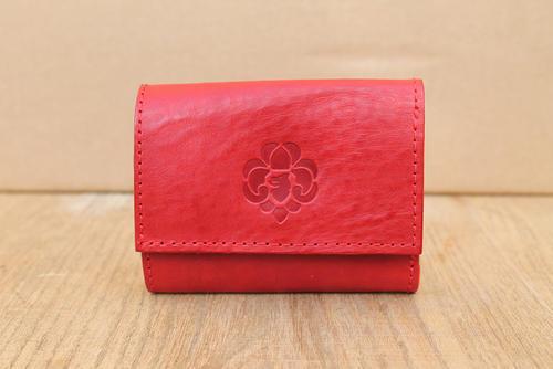 Peněženka dámská třetinka červená - 1