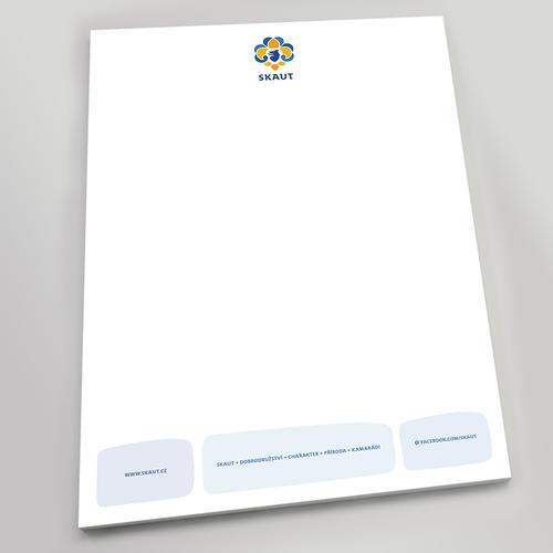 Papír hlavičkový skaut modrý - 1