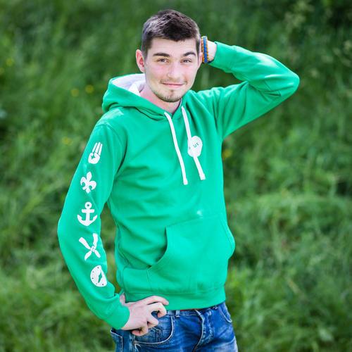 Mikina SKAUT pánská zelená - 1