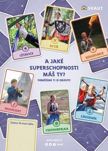 Náborový plakát A3 Superschopnosti