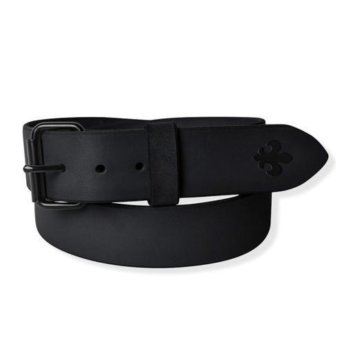Opasek kožený černý 110 cm - 1