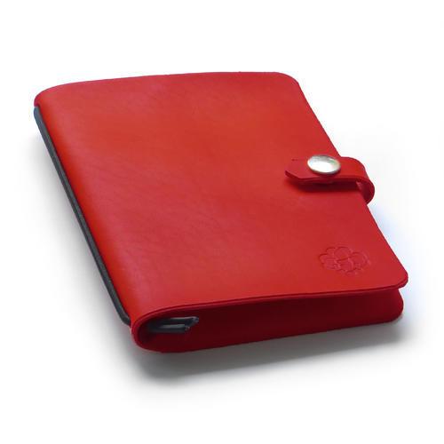 Zápisník v kožených deskách červený - 1