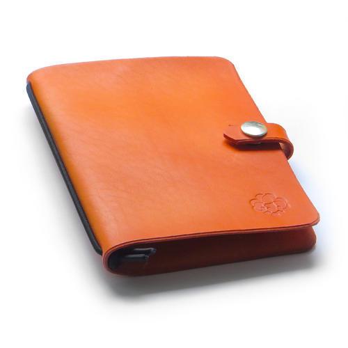 Zápisník v kožených deskách oranžový - 1