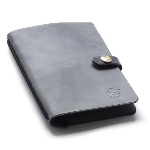 Zápisník v kožených deskách tmavě šedý - 1