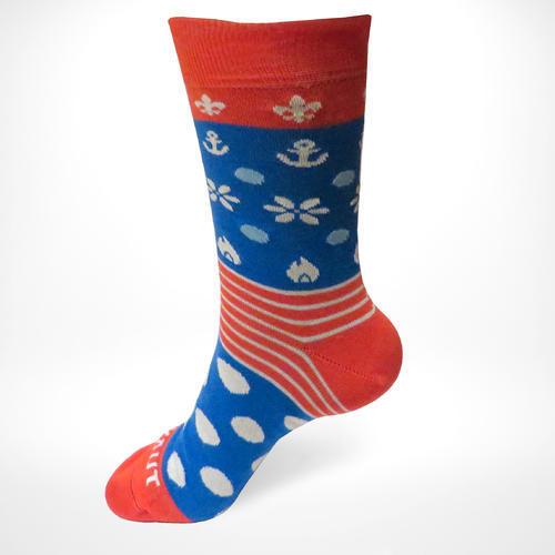 Ponožky SKAUT červenomodré 40-43, 40-43 - 1