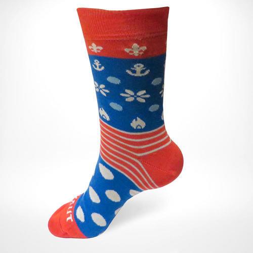 Ponožky SKAUT červenomodré 32-35, 32-35 - 1