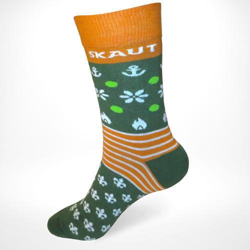 Ponožky SKAUT zelenožluté 32-35, 32-35 - 1