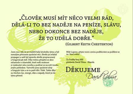 Dekret děkovací Green - 2