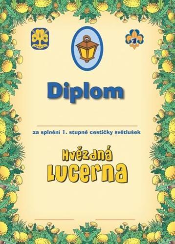 Diplom - Cestička Světlušek 1 - 2