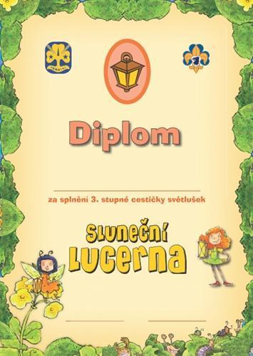 Diplom - Cestička Světlušek 3 - 2