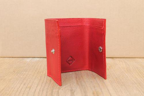 Peněženka dámská třetinka červená - 2