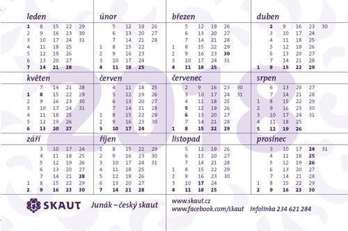 Kalendářík Betlémské světlo 2018 (loňský) 100 ks - 2