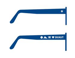 Brýle sluneční modré UV400 - 2