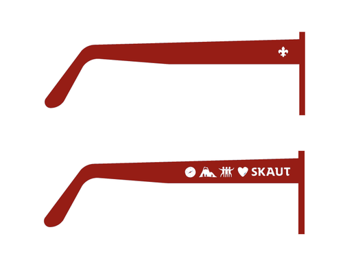 Brýle sluneční červené UV400 dětské - 2