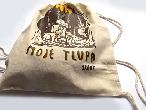 Bavlněný batoh stahovací - Moje tlupa - 2
