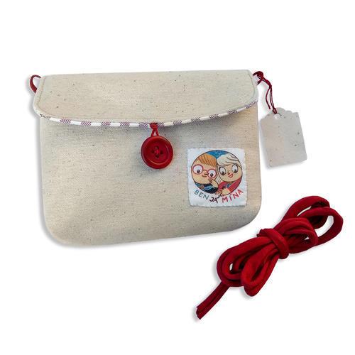 Karty Ben Já Mína v červené plátěné kapsičce, červená varianta - 2