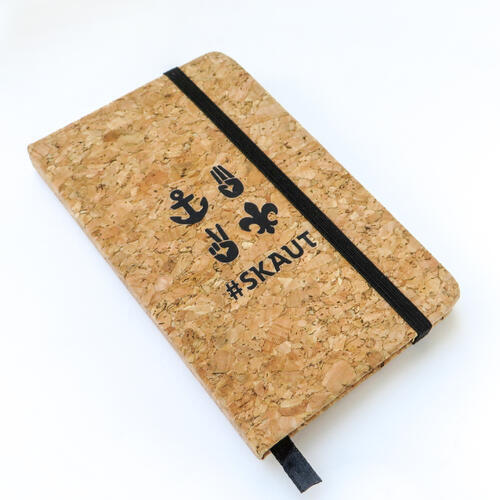 Korkový zápisník A6 skaut - 2