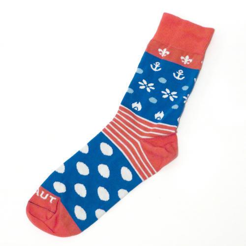 Ponožky SKAUT červenomodré 40-43, 40-43 - 2
