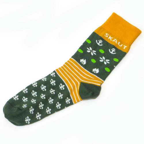Ponožky SKAUT zelenožluté - 2