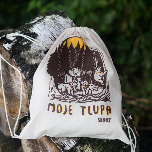 Bavlněný batoh stahovací - Moje tlupa - 3