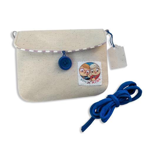 Karty Ben Já Mína v modré plátěné kapsičce, modrá varianta - 3