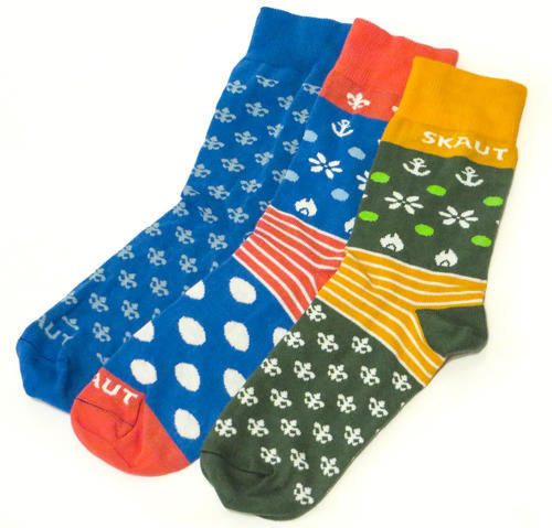 Ponožky SKAUT zelenožluté 32-35, 32-35 - 3