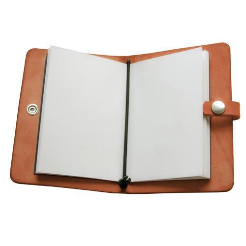 Zápisník v kožených deskách oranžový - 3