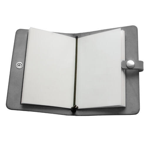 Zápisník v kožených deskách tmavě šedý - 3