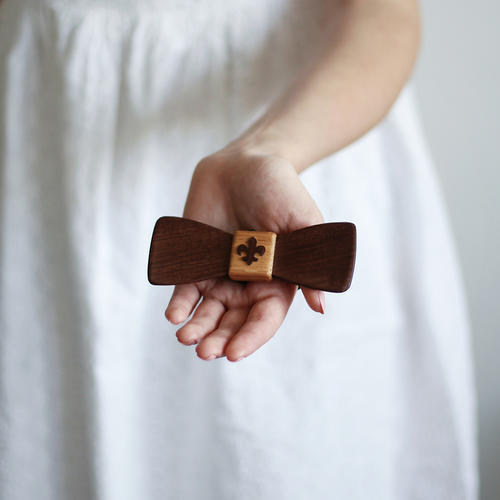 Motýlek skautský dřevěný - 4