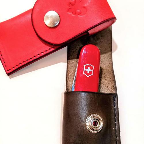 Pouzdro na nůž červené - 4