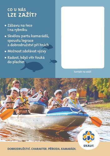 Leták pro rodiče vodáci karta 50ks - 5