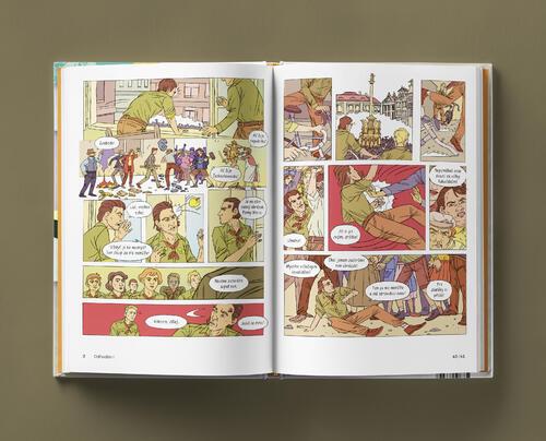 Odvaha je volba s podpisy autorů - skautský komiks - 6